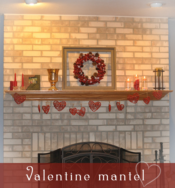 Valentine Mantel Decor