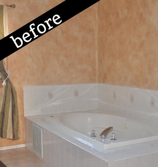 Before photo of master bath tub