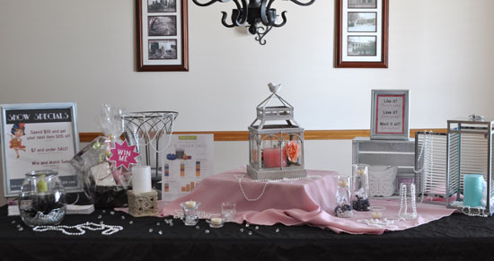 partylite consultant what are your vendor display ideas
