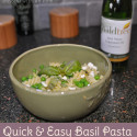 Quick and Easy Basil Pasta Lunch