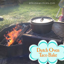Camping Taco Bake with Dutch Oven
