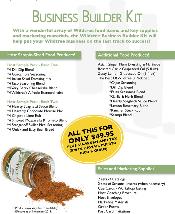 What is in the Wildtree Business Kit