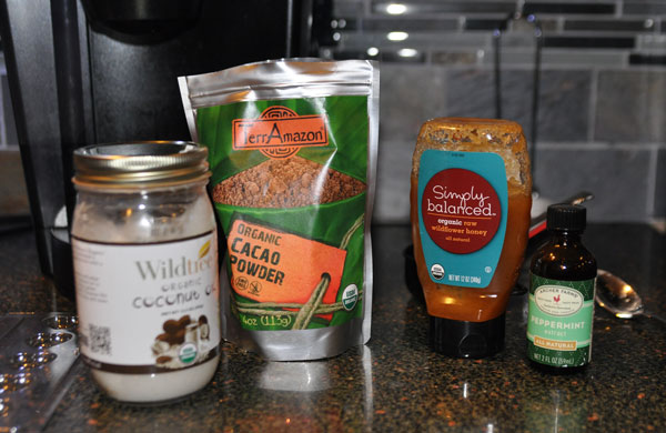 ingredients - chocolate coconut