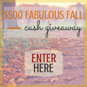 $500 Fabulous Fall Cash Giveaway