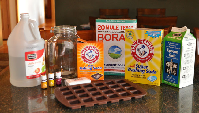 Photo of ingredients for making laundry soap