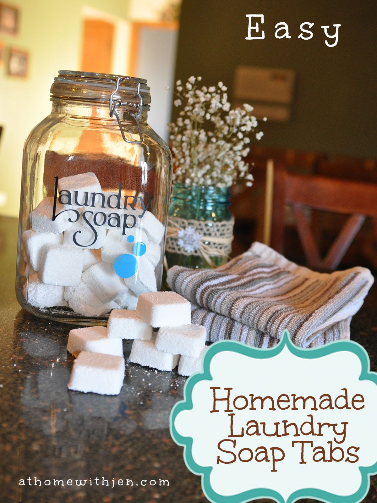 How to make Homemade Laundry Soap Tabs