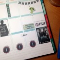 X-Files planner stickers – free printable