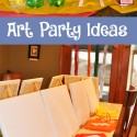 Art Party Themed Birthday Party