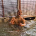 brandon in hot tub